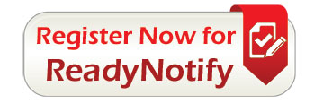 gray button with red text that says Register Now for Ready Notify